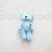 Голубой медведь мягкий брелок-миниатюра, 11 см