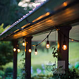 Ретро гирлянда Уличная  5 ,5 м комплект  Патрон E 14  ,10 ламп Эдисона Р  45 тёплый приятный свет, фото 8