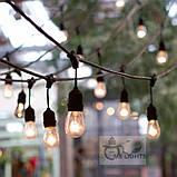Ретро гирлянда Уличная  5 ,5 м комплект  Патрон E 14  ,10 ламп Эдисона Р  45 тёплый приятный свет, фото 3