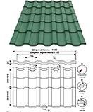 Металлочерепица REN | 0,5 мм |PE RAL 7024 | Blachy Pruszynski |, фото 6