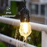Ретро гирлянда Уличная  5 м комплект  Патрон е 14  ,10 ламп Эдисона Р  45 тёплый приятный свет, фото 2