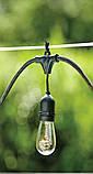 Ретро гирлянда Уличная  5 м комплект  Патрон е 14  ,10 ламп Эдисона Р  45 тёплый приятный свет, фото 3