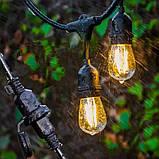 Ретро гирлянды Уличная  5 м комплект  10 ламп Эдисона ST GOID 45 патрон Е 27, фото 3
