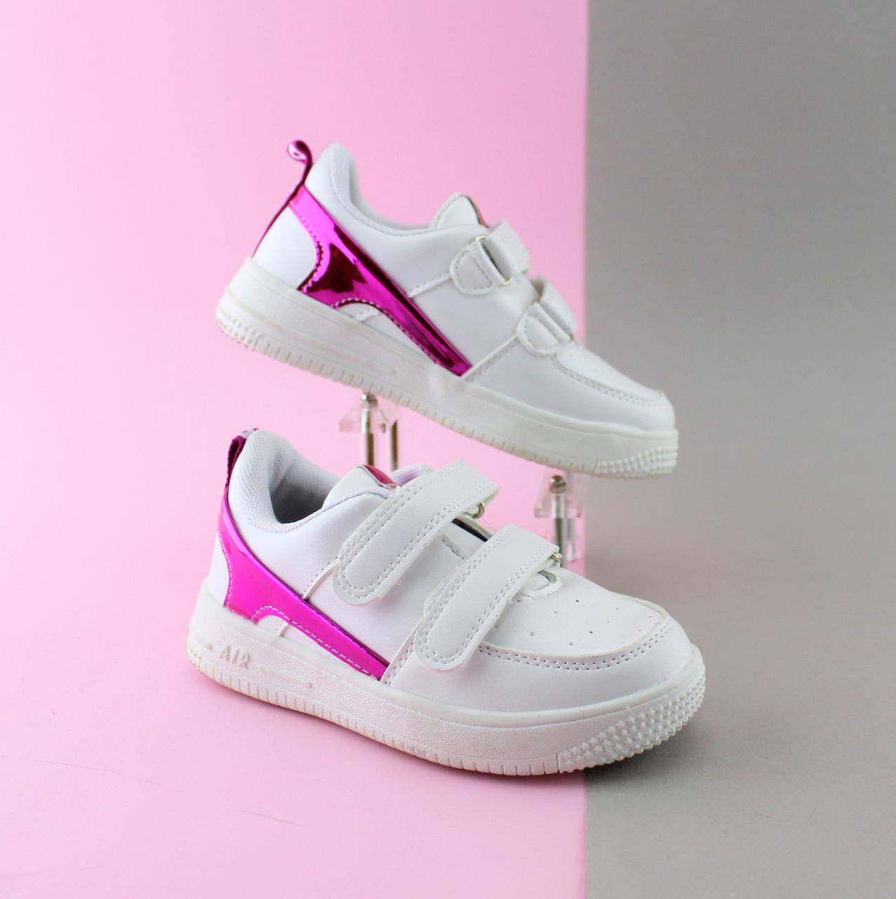 Белые кроссовки слипоны для девочки серия спортивная обувь тм JG р.28,30