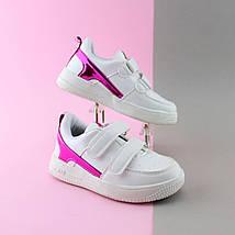 Белые кроссовки слипоны для девочки серия спортивная обувь тм JG р.28, фото 2