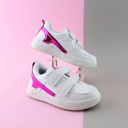 Белые кроссовки слипоны для девочки серия спортивная обувь тм JG р.28,30, фото 2