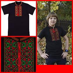 Вишиванка - футболка з коротким рукавом, інтерлок, розміри на ріст 98 - 164