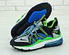 """Кроссовки мужские Nike Air Max 270 Browfin """"Синие с зеленым"""" найк аир макс р.41-45"""