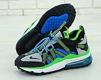 """Кроссовки мужские Nike Air Max 270 Browfin """"Синие с зеленым"""" найк аир макс р.41-45, фото 1"""