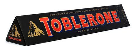Швейцарский черный шоколад Tobleron с медом и миндальной нугой 100г