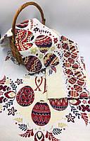 Рушник льняной пасхальный «Пысанки» 45х57 см - в наборе 3шт