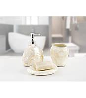 Комплект в ванную Irya - Sedef beyaz белый (3 предмета)
