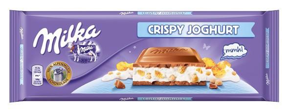 Шоколад Milka Crispy Joghurt (с хрустящим  йогуртом) Швейцария 300г