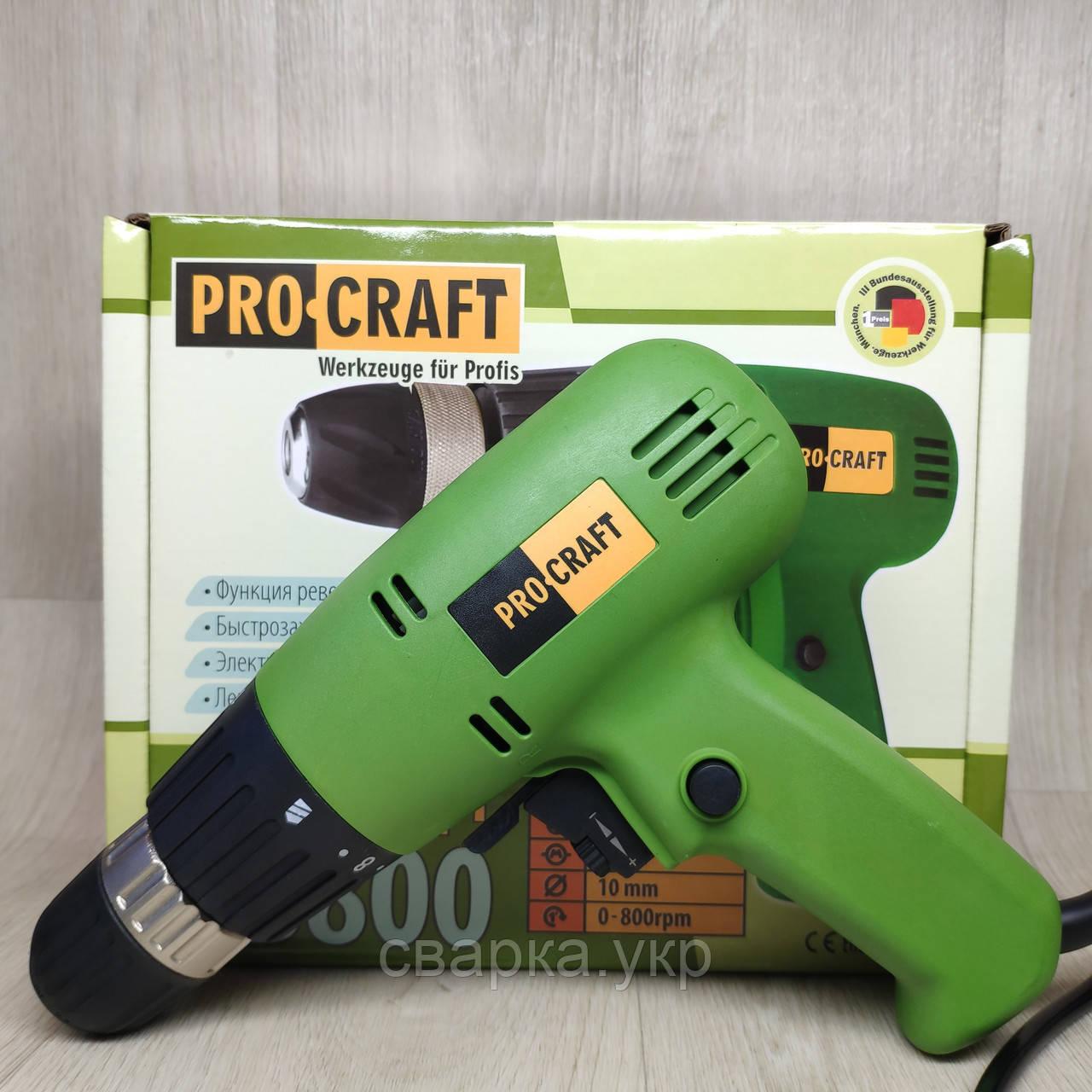 Шуруповерт мережевий ProCraft PB-800