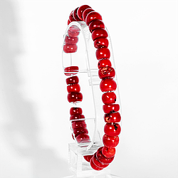 Коралл красный, браслет, 194БК