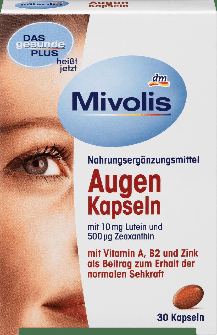 Биологически активная добавка для зрения Mivolis DAS gesunde PLUS Augen с Vitamin A, B2 и Zink, 30 шт.
