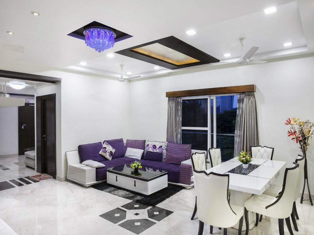 Двухуровневый потолок из гипсокартона .