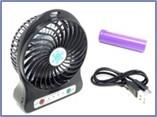 Вентилятор портативный и автомобильный 5В Mini Fan фонарик USB кабель