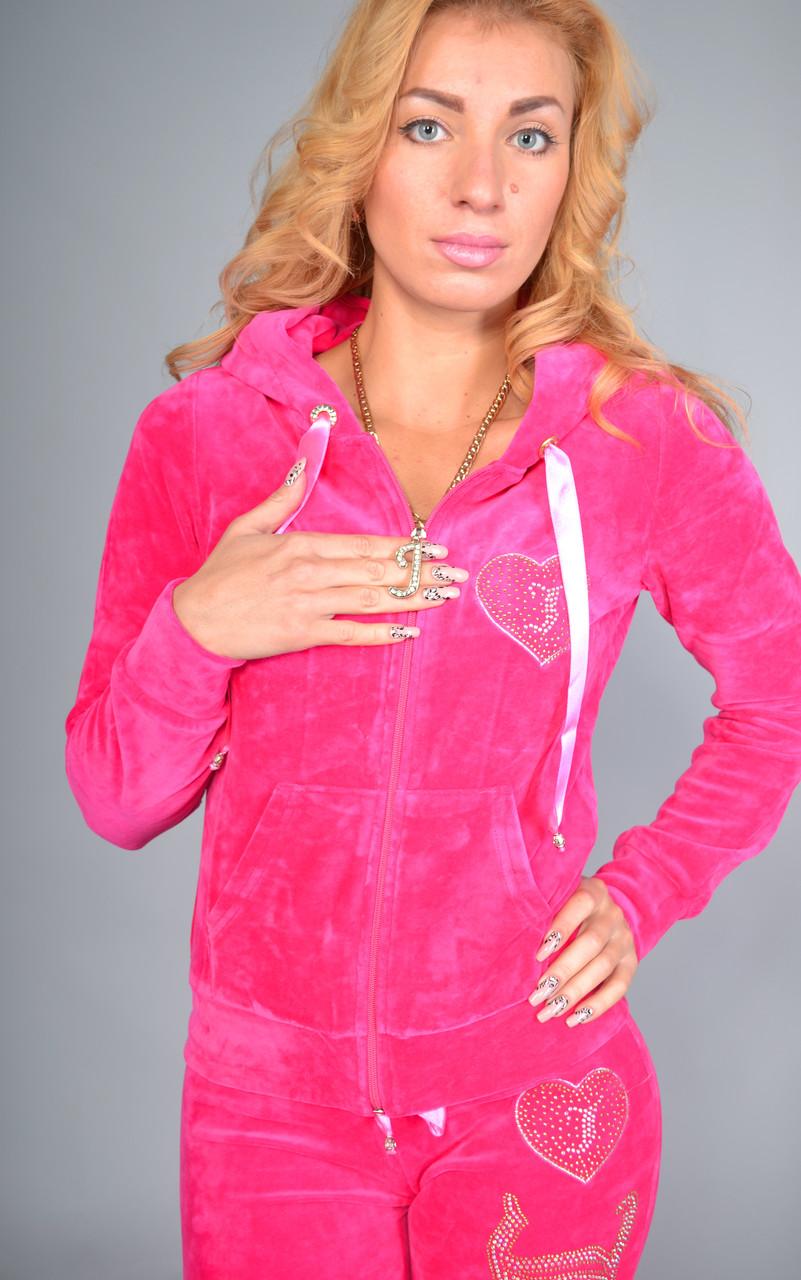 Женский велюровый спортивный костюм Juicy Couture, 100% соттон, разм 42,44,46,48