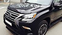 Дефлектор капота (мухобойка), темный. (SIM) - GX - Lexus - 2013