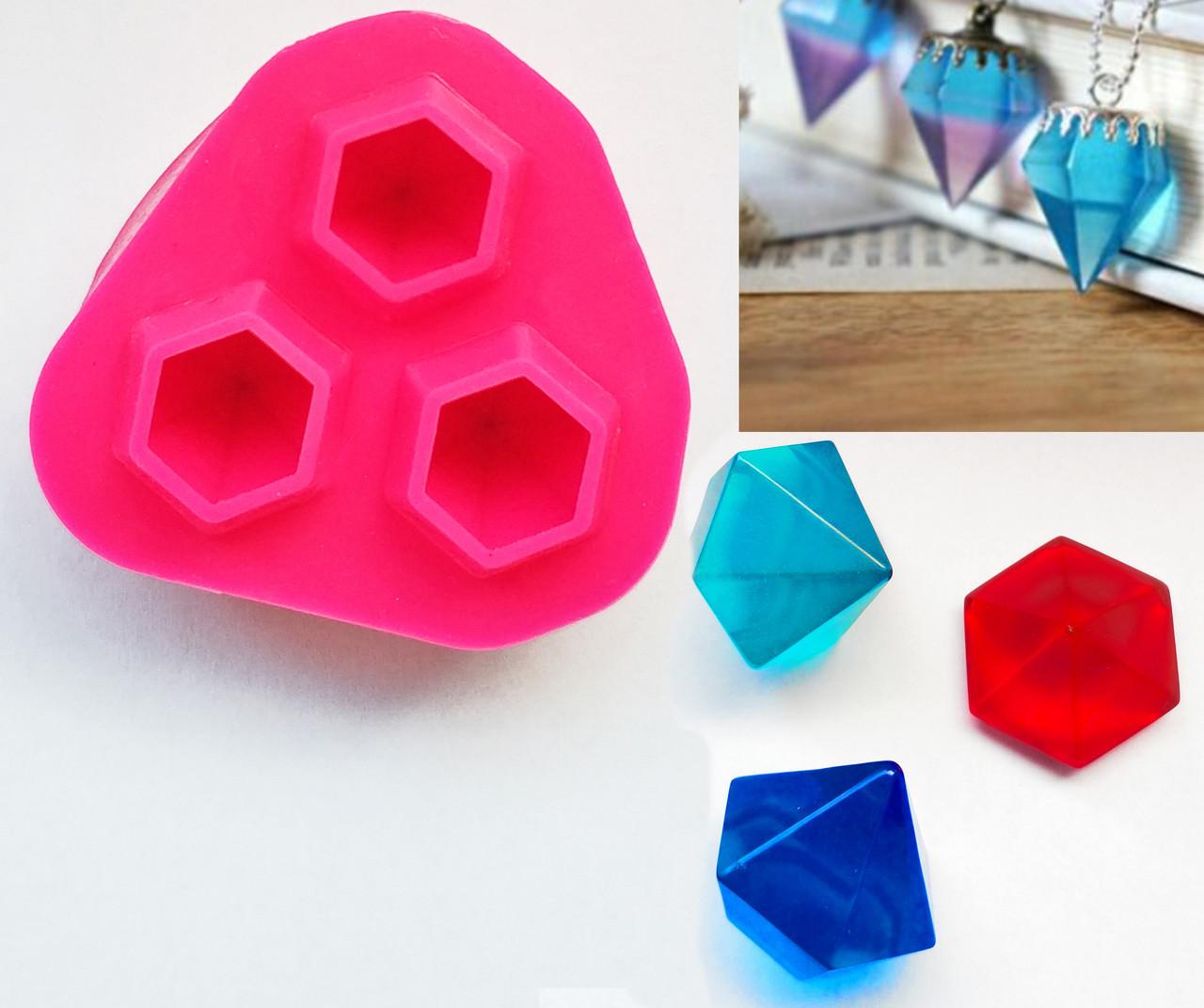 Молд 3 больших кристалла для эпоксидной смолы, глины, пищевых целей, платиновый силикон