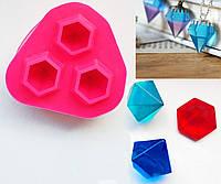 Молд 3 больших кристалла для эпоксидной смолы, глины, пищевых целей, платиновый силикон , фото 1