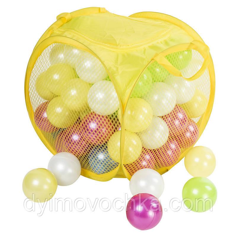 Набор игровых шариков 80 шт. ОРИОН 467 в.6, перламутр