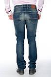 Зауженные джинсы Franco Benussi 13-269 темно-синие, фото 6