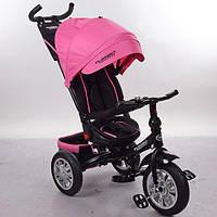 Детский трехколесный велосипед M 3646A-15, колясочный, трансформер, розовый