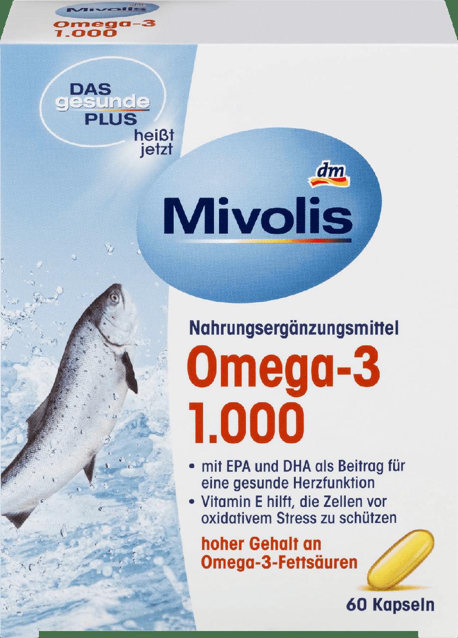 Биологически активная добавка Das gesunde Plus - Mivolis Omega - 3 1000mg, 60 шт.