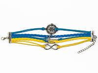 Сине-желтый браслет Герб Украины