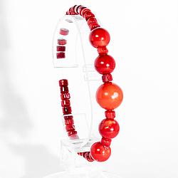 Коралл красный, браслет, 195БК