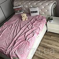 Плед на кровать Микрофибра ALBO 200х230 cm Розовое (P-F1-21), фото 3