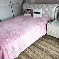 Плед на кровать Микрофибра ALBO 200х230 cm Розовое (P-F1-21), фото 4