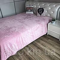 Плед на кровать Микрофибра ALBO 200х230 cm Розовое (P-F1-21), фото 5