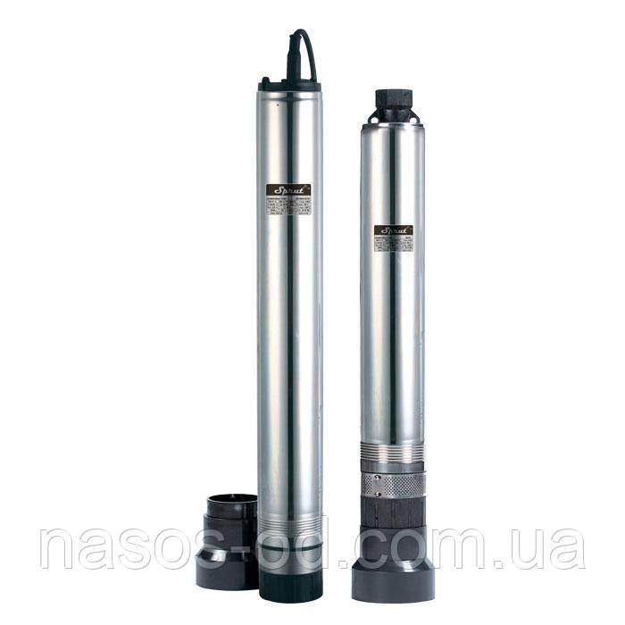 Скважинный центробежный насос Sprut 4SCM40  0.85кВт Hmax40м Qmax100л/мин Ø97мм (кабель 22м)