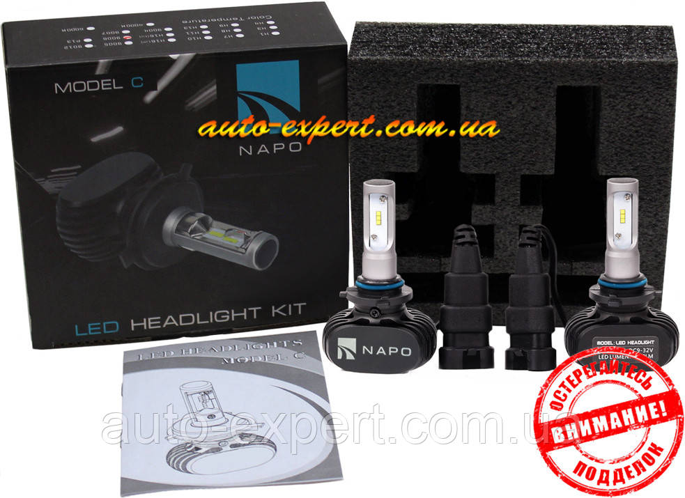 Автомобильные светодиодные лампы «Napo» LED G7 (HB4)(6000K)(4000lm)(25W)(12-24V)