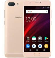 "Смартфон Sharp R1S 3/32Gb Gold, 13+5/5Мп, 5.5"" IPS, 2SIM, 4G, 5000мАh, 8 ядер, GPS, MT6750"