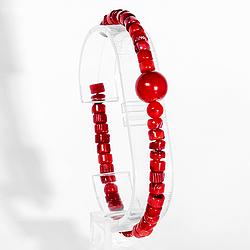 Коралл красный, браслет, 196БК