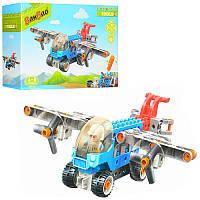 Конструктор для малышей «Самолет» с отверткой 9718 BanBao, 35 деталей и мини-фигурка