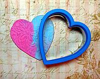 """Каттер для глины мастики """"Сердце"""" вырубка"""