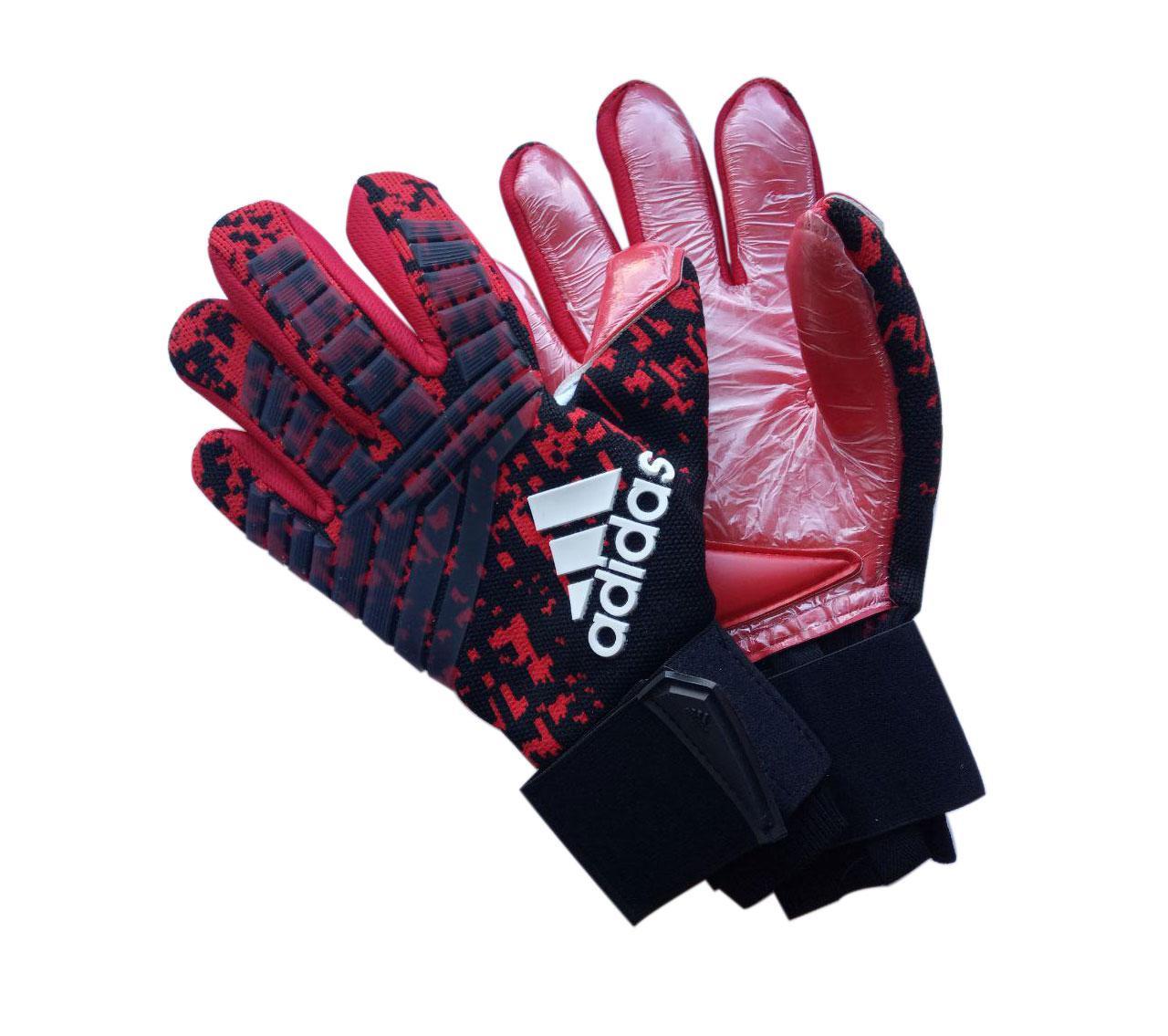 Вратарские перчатки Adidas pro 120 красно-черные