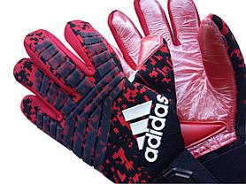 Вратарские перчатки Adidas pro 120 красно-черные, фото 3