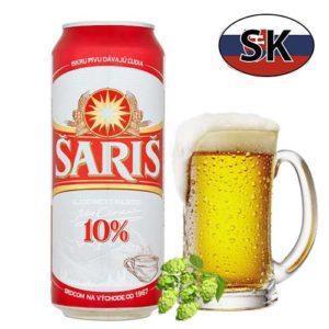 Пиво баночное светлое Saris 10% 0,5л. Словакия