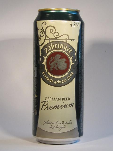 Пиво Zabringer Premium 0,5 л ж/б . Германия