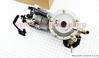 Газовый карбюратор LPG (пропан-бутан) для генераторов 4-6кВт (механизм рычажный) 173F/177F/182F/188F/190F