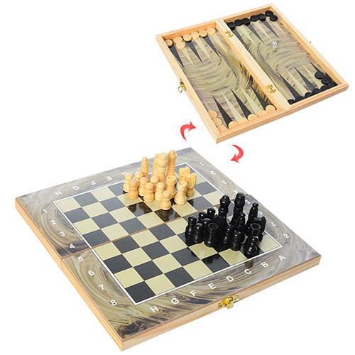Шахматы 28A 3в1(шашки,нарды), в кульке, 27,5-14-3,5см                               (A                           )
