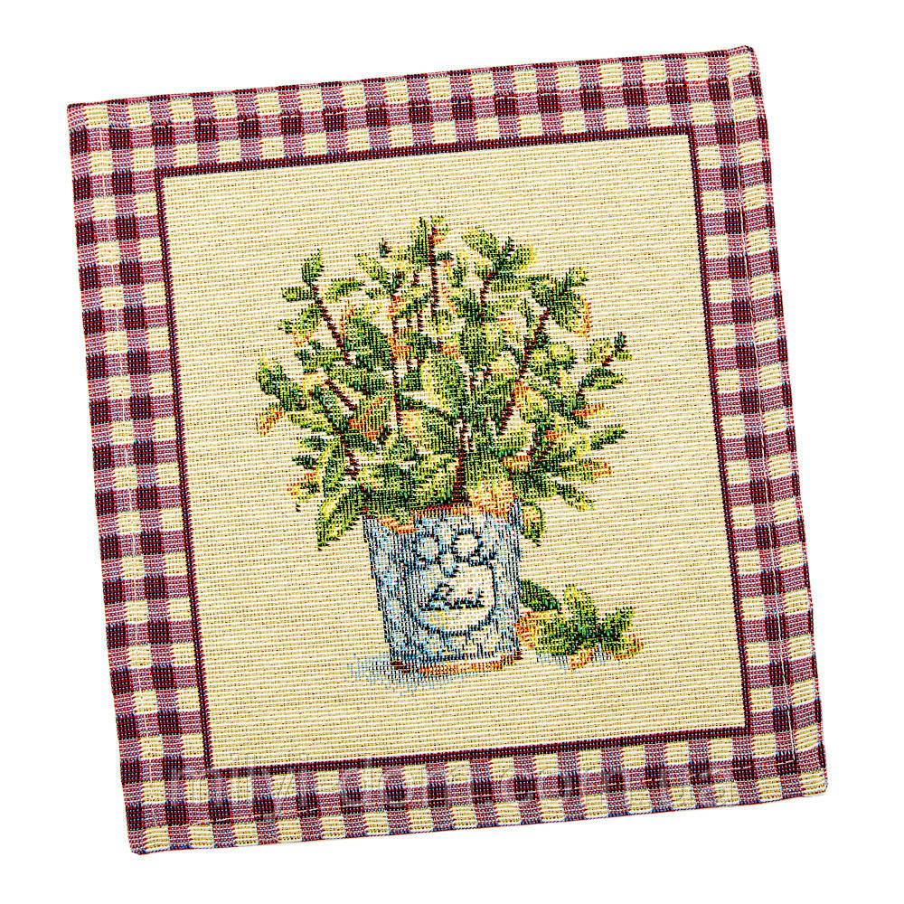 """Салфетка под тарелку  маленькая """"Растение"""" , 17х18 см"""