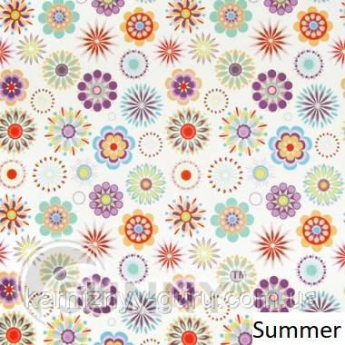 Рулонные шторы для окон в открытой системе Sunny, ткань Summer