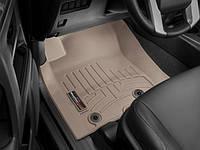 Коврики резиновые с бортиком, передние, бежевые. (WeatherTech) - 4Runner - Toyota - 2013